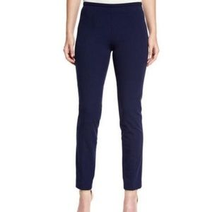 Theory slim twill navy trousers